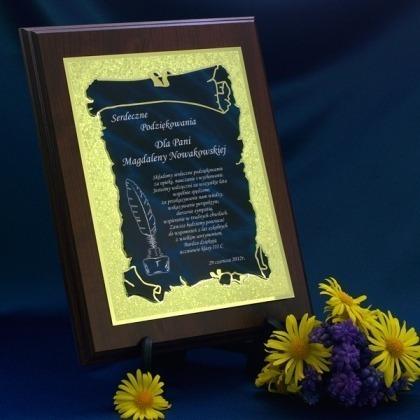 Dyplom podziękowania dla nauczyciela - niebieski