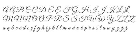 Krój pisma do napisów z drewna